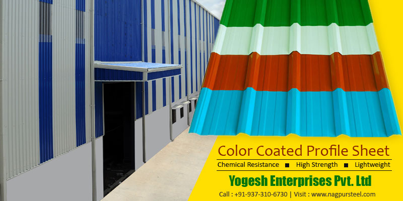 Colour Coated Profile Sheets Manufacturer, Hingna MIDC, Nagpur